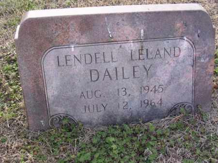 DAILEY, LENDELL LELAND - Cross County, Arkansas | LENDELL LELAND DAILEY - Arkansas Gravestone Photos