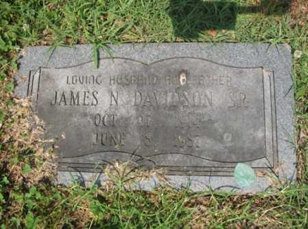 DAVIDSON, SR, JAMES N - Cross County, Arkansas | JAMES N DAVIDSON, SR - Arkansas Gravestone Photos