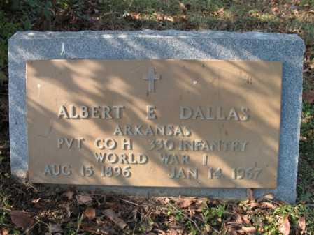 DALLAS  (VETERAN WWI), ALBERT ELMER - Cross County, Arkansas | ALBERT ELMER DALLAS  (VETERAN WWI) - Arkansas Gravestone Photos