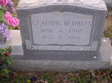 DAVIS, CLAUDIE M - Cross County, Arkansas | CLAUDIE M DAVIS - Arkansas Gravestone Photos
