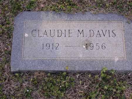 DAVIS2, CLAUDIE M - Cross County, Arkansas | CLAUDIE M DAVIS2 - Arkansas Gravestone Photos