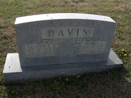 DAVIS, CUSTER E - Cross County, Arkansas | CUSTER E DAVIS - Arkansas Gravestone Photos