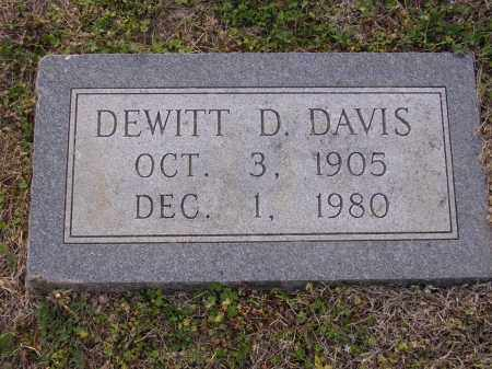 DAVIS2, DEWITT D - Cross County, Arkansas | DEWITT D DAVIS2 - Arkansas Gravestone Photos
