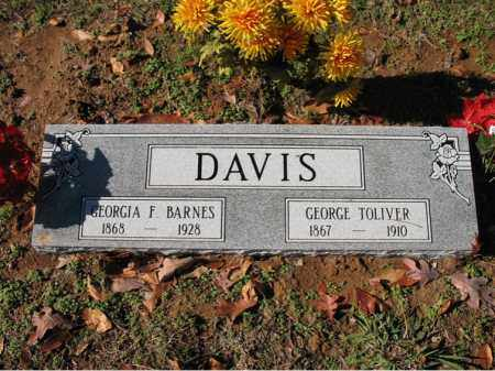 DAVIS, SR., GEORGE TOLIVER - Cross County, Arkansas | GEORGE TOLIVER DAVIS, SR. - Arkansas Gravestone Photos