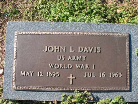 DAVIS (VETERAN WWI), JOHN L - Cross County, Arkansas | JOHN L DAVIS (VETERAN WWI) - Arkansas Gravestone Photos