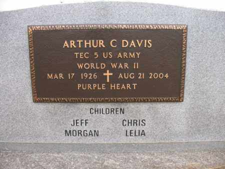 "DAVIS (VETERAN WWII), ARTHUR CLARENCE ""SHORTY"" - Cross County, Arkansas 