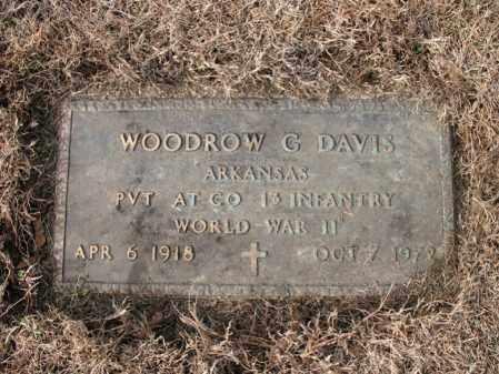 DAVIS (VETERAN WWII), WOODROW G - Cross County, Arkansas | WOODROW G DAVIS (VETERAN WWII) - Arkansas Gravestone Photos