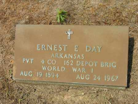 DAY (VETERAN WWI), ERNEST E - Cross County, Arkansas | ERNEST E DAY (VETERAN WWI) - Arkansas Gravestone Photos