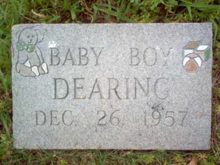 DEARING, BABY BOY - Cross County, Arkansas | BABY BOY DEARING - Arkansas Gravestone Photos