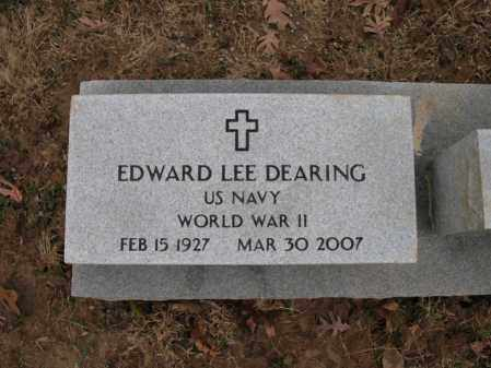 "DEARING (VETERAN WWII), EDWARD LEE ""CURLY"" - Cross County, Arkansas 