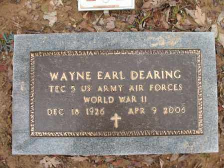 "DEARING (VETERAN WWII), WAYNE EARL ""WHITIE"" - Cross County, Arkansas 