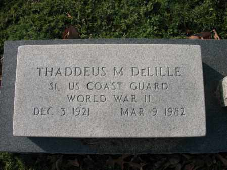 DELILLE (VETERAN WWII), THADDEUS M - Cross County, Arkansas | THADDEUS M DELILLE (VETERAN WWII) - Arkansas Gravestone Photos