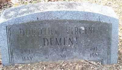 DEMENT, DOROTHY VIRGINIA - Cross County, Arkansas   DOROTHY VIRGINIA DEMENT - Arkansas Gravestone Photos