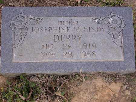 DERRY, JOSEPHINE JUCINDY - Cross County, Arkansas | JOSEPHINE JUCINDY DERRY - Arkansas Gravestone Photos