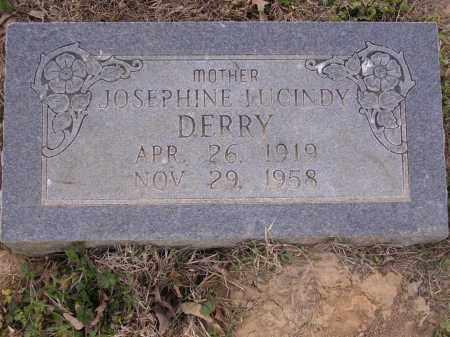 DERRY, JOSEPHINE JUCINDY - Cross County, Arkansas | JOSEPHINE JUCINDY DERRY - Arkansas Gravestone Photos