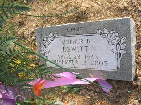 "DEWITT, ARTHUR B ""DUNNIE"" - Cross County, Arkansas 