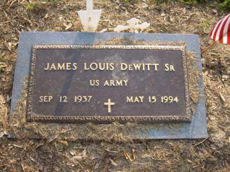 DEWITT, SR (VETERAN), JAMES LOUIS - Cross County, Arkansas | JAMES LOUIS DEWITT, SR (VETERAN) - Arkansas Gravestone Photos