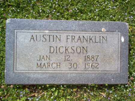 DICKSON, AUSTIN FRANKLIN - Cross County, Arkansas | AUSTIN FRANKLIN DICKSON - Arkansas Gravestone Photos