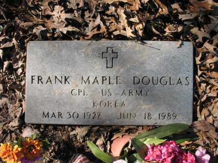 DOUGLAS (VETERAN KOR), FRANK MAPLE - Cross County, Arkansas | FRANK MAPLE DOUGLAS (VETERAN KOR) - Arkansas Gravestone Photos