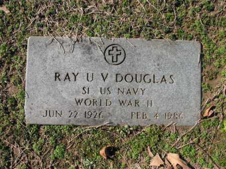 DOUGLAS (VETERAN WWII), RAY U V - Cross County, Arkansas | RAY U V DOUGLAS (VETERAN WWII) - Arkansas Gravestone Photos