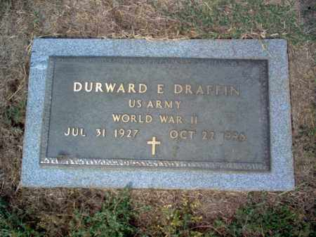 DRAFFIN (VETERAN WWII), DURWARD ELMORE - Cross County, Arkansas | DURWARD ELMORE DRAFFIN (VETERAN WWII) - Arkansas Gravestone Photos