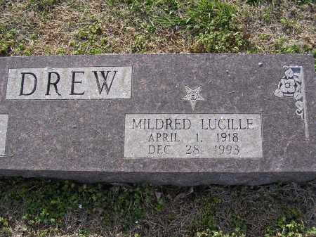 DREW, MILDRED LUCILLE - Cross County, Arkansas | MILDRED LUCILLE DREW - Arkansas Gravestone Photos