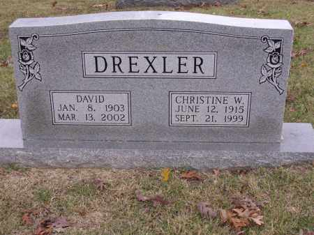 DREXLER, CHRISTINE W - Cross County, Arkansas | CHRISTINE W DREXLER - Arkansas Gravestone Photos