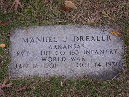 DREXLER  (VETERAN WWI), MANUEL J - Cross County, Arkansas | MANUEL J DREXLER  (VETERAN WWI) - Arkansas Gravestone Photos