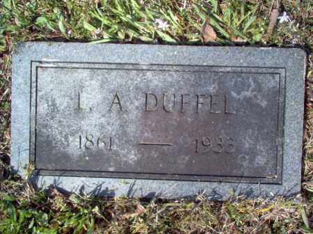 DUFFEL, L A - Cross County, Arkansas | L A DUFFEL - Arkansas Gravestone Photos