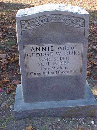"DUKE, SARA ANNE ""ANNIE"" - Cross County, Arkansas 
