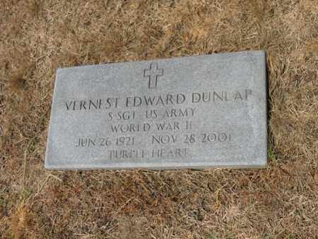 DUNLAP (VETERAN WWII), VERNEST EDWARD - Cross County, Arkansas | VERNEST EDWARD DUNLAP (VETERAN WWII) - Arkansas Gravestone Photos
