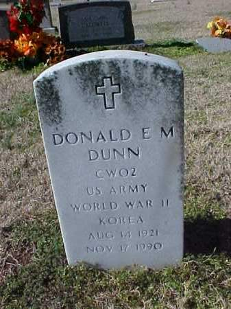 DUNN  (VETERAN 2 WARS), DONALD E M - Cross County, Arkansas | DONALD E M DUNN  (VETERAN 2 WARS) - Arkansas Gravestone Photos
