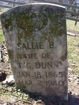 DUNN, SALLIE B - Cross County, Arkansas | SALLIE B DUNN - Arkansas Gravestone Photos