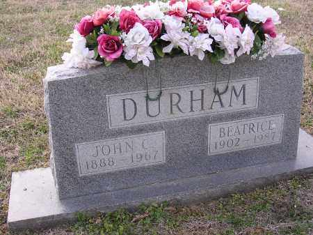 DURHAM, JOHN C - Cross County, Arkansas | JOHN C DURHAM - Arkansas Gravestone Photos