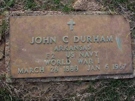 DURHAM  (VETERAN  WWI), JOHN C - Cross County, Arkansas | JOHN C DURHAM  (VETERAN  WWI) - Arkansas Gravestone Photos
