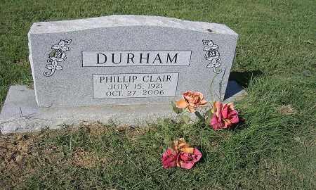 DURHAM, PHILLIP CLAIR - Cross County, Arkansas | PHILLIP CLAIR DURHAM - Arkansas Gravestone Photos