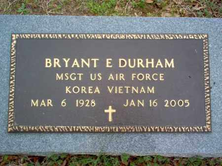 DURHAM (VETERAN 2 WARS), BRYANT EUGENE - Cross County, Arkansas | BRYANT EUGENE DURHAM (VETERAN 2 WARS) - Arkansas Gravestone Photos