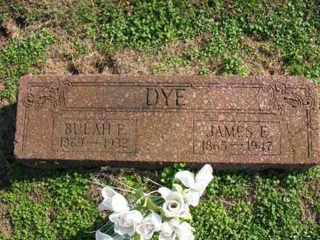 DYE, BULAH F - Cross County, Arkansas | BULAH F DYE - Arkansas Gravestone Photos