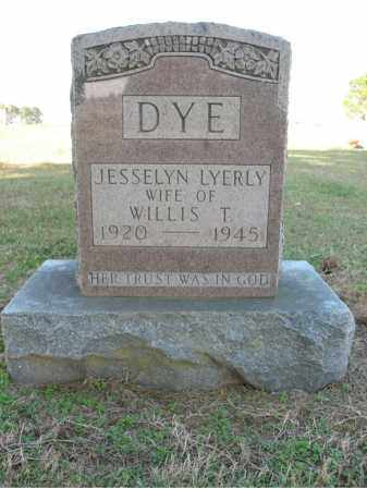 LYERLY DYE, JESSELYN - Cross County, Arkansas | JESSELYN LYERLY DYE - Arkansas Gravestone Photos