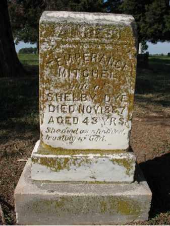 DYE, TEMPERANCE - Cross County, Arkansas | TEMPERANCE DYE - Arkansas Gravestone Photos
