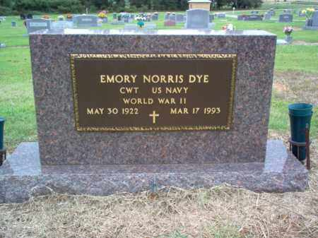 DYE (VETERAN WWII), EMORY NORRIS - Cross County, Arkansas | EMORY NORRIS DYE (VETERAN WWII) - Arkansas Gravestone Photos