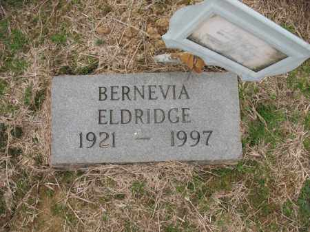 ELDRIDGE, BERNEVIA - Cross County, Arkansas | BERNEVIA ELDRIDGE - Arkansas Gravestone Photos