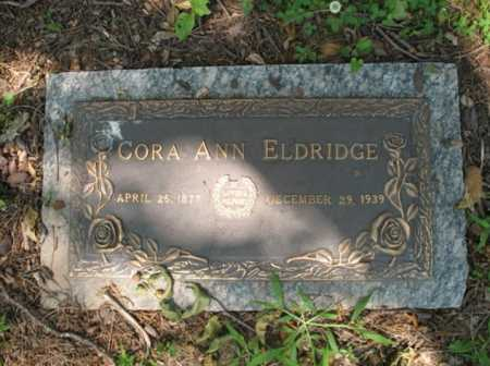 ELDRIDGE, CORA ANN - Cross County, Arkansas | CORA ANN ELDRIDGE - Arkansas Gravestone Photos