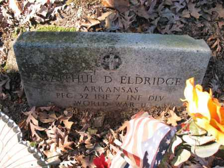 ELDRIDGE (VETERAN WWII), RAITHUL D - Cross County, Arkansas   RAITHUL D ELDRIDGE (VETERAN WWII) - Arkansas Gravestone Photos