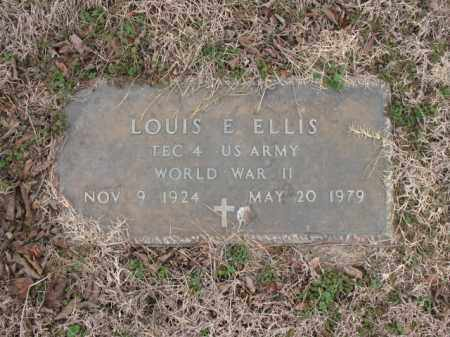 ELLIS (VETERAN WWII), LOUIS E - Cross County, Arkansas | LOUIS E ELLIS (VETERAN WWII) - Arkansas Gravestone Photos