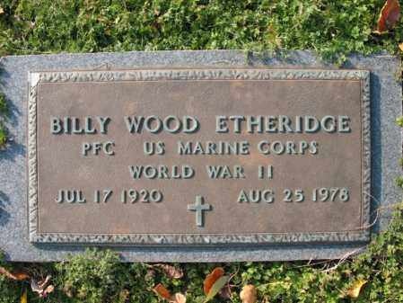 ETHERIDGE (VETERAN WWII), BILLY WOOD - Cross County, Arkansas | BILLY WOOD ETHERIDGE (VETERAN WWII) - Arkansas Gravestone Photos