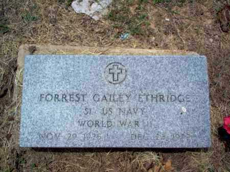 ETHRIDGE (VETERAN WWII), FORREST GAILEY - Cross County, Arkansas | FORREST GAILEY ETHRIDGE (VETERAN WWII) - Arkansas Gravestone Photos