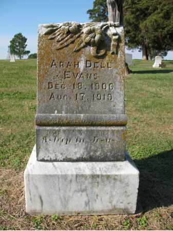 EVANS, ARAH DELL - Cross County, Arkansas | ARAH DELL EVANS - Arkansas Gravestone Photos