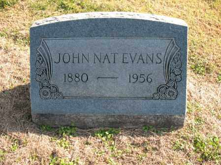 EVANS, JOHN NAT - Cross County, Arkansas | JOHN NAT EVANS - Arkansas Gravestone Photos