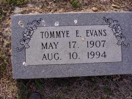 EVANS, TOMMYE E - Cross County, Arkansas | TOMMYE E EVANS - Arkansas Gravestone Photos